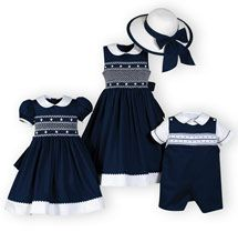 Navy and White Classics Matching Brother Sister Outfits. Infants Toddler Boys Girls 9M - 10 |Wooden Soldier.love this classic navy and white look for the little ones!