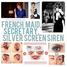 Halloween Help: Follow the links if you need beauty help for your french maid, secretary or silver screen siren costume.