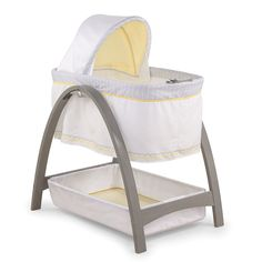 "MUST! You gotta have a bassinet! we had one in our room, this is the same brand, not the same style (but I just loved this for you guys lol!!!) We only used the bassinet IN our room for 2 months, after that, he went into his crib. Some people choose to use the crib right away, I liked being able to hear him at the beginning, and then at 2 months, he was just TOO noisy lol!   Summer Infant Bentwood Bassinet with Motion - Grey Chevron Leaf - Summer Infant - Babies""R""Us"