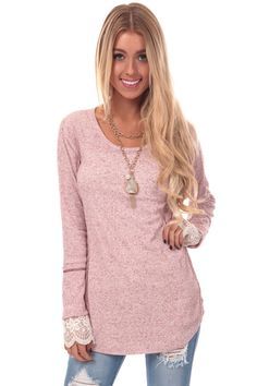 Lime Lush Boutique - Berry Ribbed Top with Lace Cuffs, $34.99 (https://www.limelush.com/berry-ribbed-top-with-lace-cuffs/)