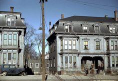Children in the tenement district, Brockton, Massachusetts '40