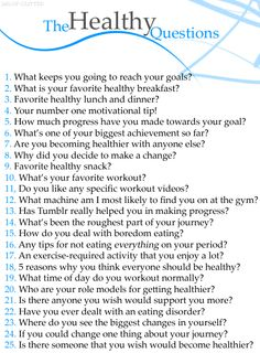 The Healthy Questions.