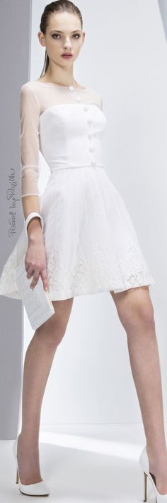 Georges Hobeika Fall-winter Ready-to-Wear Couture Dresses, Fashion Dresses, White Cocktail Dress, Little White Dresses, White Fashion, Georges Hobeika, Pretty Dresses, Designer Dresses, Cool Outfits