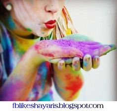 Rango tum rangu main हल शयर - Holi Shayari Rango tum rangu main Ran. Powder Paint Photography, Chalk Photography, Senior Photography, Creative Photography, Portrait Photography, Festival Photography, Holi Powder, Paint Fight, Holi Colors