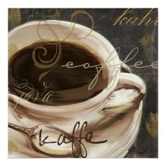 Le Cafe, Decorative Coffee Wall Decor Poster