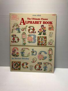 ALPHABET CROSS STITCH BOOK, ABC Cross Stitch book, floral alphabet cross stitch #AmericanSchoolofNeedlework