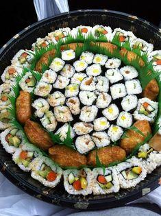 Huge vegetarian sushi platter for Local Boy Sushi on Oahu http://www.boyversusworld.com/scavenger-hunt-oahu/