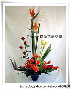 台北歐式花藝設計檢定教學作品--三角型--現代手法 @ Rebecca時尚花藝空間 -- 德國B.W.S.花藝學院 :: 隨意窩 Xuite日誌