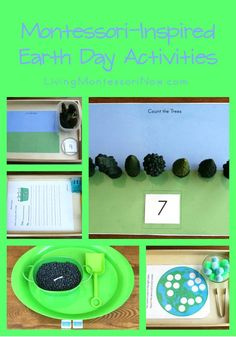 Earth Montessori Monday – Free Earth Day Printables and Activities - Today, I'm sharing the links to free printables I've used to create Montessori-inspired Earth Day activities for preschoolers through first graders. Preschool Science, Science Activities, Activities For Kids, Geography Activities, Science Ideas, Motor Activities, Therapy Activities, Preschool Ideas, Science Experiments
