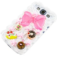 Cake Frosting Back Cover for Samsung Galaxy S III, Bow Cream  Also for my new phone