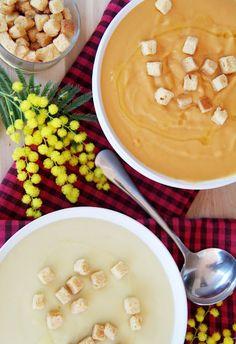 Crema de calabacín y zanahoria. Zuccini and carrot soup.