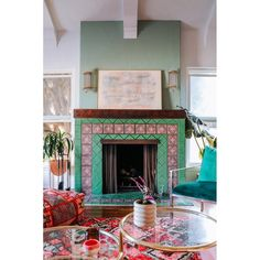 Pastel Living Room, Living Room Red, Colorful Living Rooms, Mexican Living Rooms, Transitional Wall Sconces, Hudson Valley Lighting, Cool Floor Lamps, Eclectic Decor, Colorful Interiors