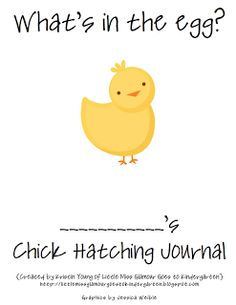 Little Miss Glamour Goes To Kindergarten: observing chicks {journal download}