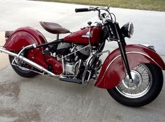 Classic '46 Indian Chief done in Indian red