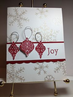 Pinterest inspired. The Snowflake Spot embossed **photo only