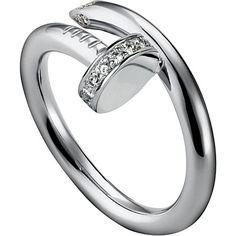 CARTIER Juste un Clou white-gold and diamond ring Cartier Nail Ring, Cartier Jewelry, Luxury Jewelry, Modern Jewelry, Fine Jewelry, Jewelry Rings, Rose Gold Jewelry, Diamond Jewelry, Diamonds