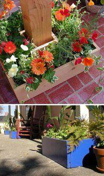 Planters To Go Around Posts | Deck ideas | Pinterest