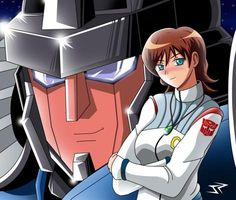 Starscream and Alexis by Vegeta-SSJ3 I AM SO DRAWONG A TFP VERSION OF HER FOR STEVE BLUM'S STARSCREAM!!!