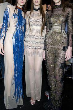 Three dress sparkle with Swarovski Elements at Marios Schwab.  #SwarovskiCollective