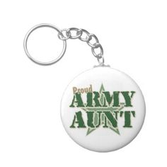 Proud Army Aunt Keychains