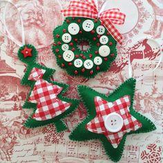 Navidad fieltro ornamentos / ornamentos de árbol de Navidad