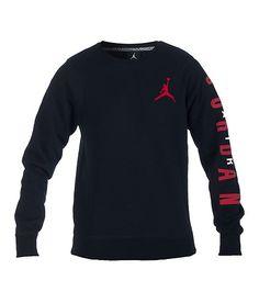 ef969cba1edae5 JORDAN Fleece crew sweatshirt Long sleeves Pullover style JORDAN jumpman on  front JORDAN lettering d.