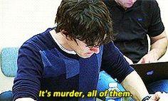 Benedict reading vs. Benedict acting (gif set)