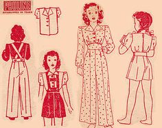 40s Girls Blouse Pants Shorts Overalls Pajamas Pattern Pauline 5151 Vintage Sewing Pattern from Australia Size 10 Chest 28 inches