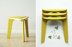 Array Stool- Stool Made of Single Sheet Metal » Design You Trust