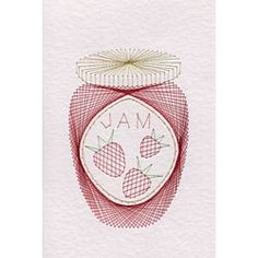 Stitching Cards Jar of Jam