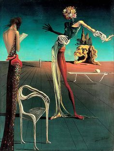 Monday Dali ~Woman with a Head of Roses ,1935