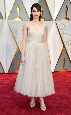 Felicity Jones from Oscars 2017 Red Carpet Arrivals  In Dior