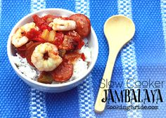 Hearty Slow Cooker Jambalaya - CookingBride.com Make it as healthy as you want.  I'm pouring mine over a bed of greens