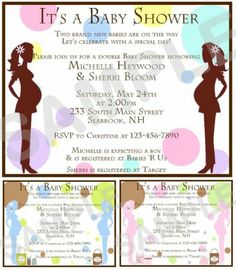 14 best merdibels baby shower ideers images on pinterest baby baby shower invitations double mod chic mommies to be filmwisefo