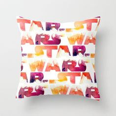 Star Wars Watercolor Gap Throw Pillow by foreverwars - $20.00