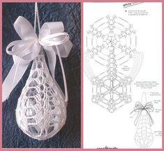 Best 12 Star Christmas: crochet ornaments – with diagram by Jeroen En Franciska Jonkman – SkillOfKing. Art Au Crochet, Crochet Ball, Crochet Diy, Crochet Motifs, Crochet Chart, Thread Crochet, Crochet Doilies, Crochet Patterns, Crochet Christmas Ornaments
