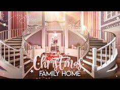 BLOXBURG| Christmas Family Home | House Build - YouTube Modern Family House, Family House Plans, Home And Family, Colonial Mansion, Modern Mansion, Home Building Design, Building A House, Two Story House Design, Welcome To My House