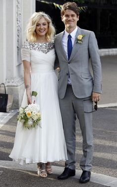 Fearne Cotton and Jesse Wood seen arriving at their wedding reception, after their registry ceremony on Friday 4th July 2014. Fearne is a popular British dj  tv presenter, her groom is son of Rolling Stones, Ronnie Wood.