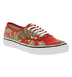 Vans AUTHENTIC SLIM VAN DOREN RED HAWAIIAN Shoes - Vans Trainers - Office Shoes