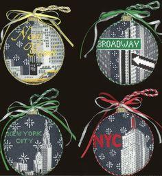 KH359, KH361, KH360, KH358 NYC Needlepoint Ornaments by Kirk & Bradley #needlepoint