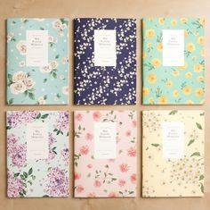 "Large Blossom Notebook v2 - rose, marigold or chrysanthemum. 7.1"" x 9.8"""