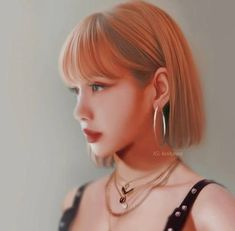 "Lisa You Should Try Short Hair 😸😻 Aesthetic Hairstyles,"" , Kpop Short Hair, Ulzzang Short Hair, Girl Short Hair, Jennie Blackpink, Blackpink Lisa, Lisa Hair, Layered Hair, Korean Beauty, Kpop Girls"