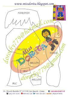molde /2   -  Niña Come Galletas Miss Dorita