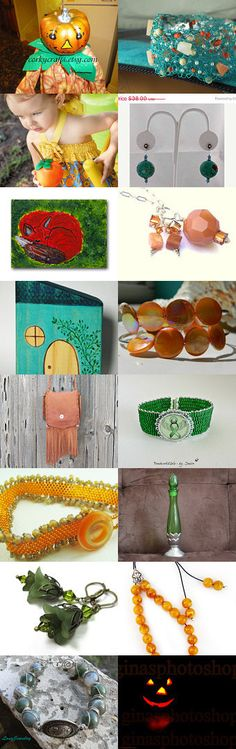 Almost Time for Halloween by Kathi Demaret on Etsy #handmade #lacwe #jewelry #accessories #fineart #vintage