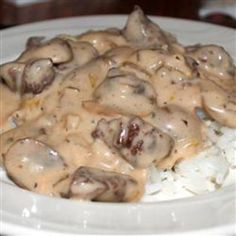 Beef Stroganoff with White Wine