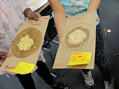 Great health lesson for students to see the fat in their snacks they bring to school.