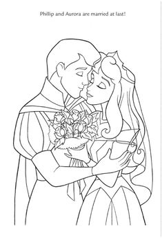Disney Wedding Wishes Coloring Pages Color Each Of You Favorite Princesses In Their Gowns With Prince Charming