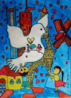 Let the world fill with love  Artist:	Bingxin Z.  Location:	Guangzhou, China  Age:	9
