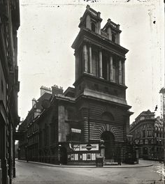 St Mary Woolnoth, Lombard St & Bank Tube station, c. 1920