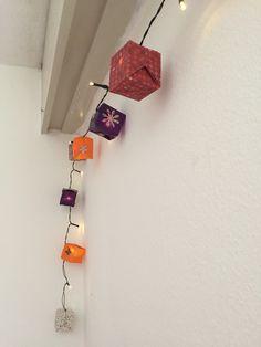 Guirlande origami cube